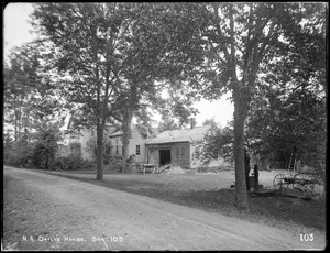 Wachusett Aqueduct, E. W. Daily's house, near the portal, from the south, station 105, Berlin, Mass., May 23, 1896