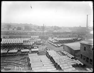 Distribution Department, Low Service Pipe Lines, Somerville Pipe Yard, looking east, Somerville, Mass., May 29, 1896