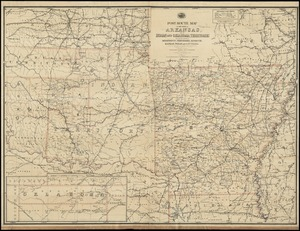 Post route map of the State of Arkansas and of Indian and Oklahoma territories with adjacent portions of Mississippi, Tennessee, Missouri, Kansas, Texas and Louisiana