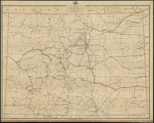 Post route map of the State of Colorado showing post offices with the intermediate distances and mail routes in operation on the 1st of October 1891