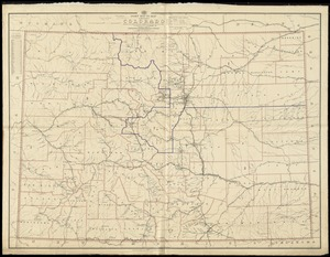Post route map of the State of Colorado showing post offices with the intermediate distances and mail routes in operation on the 1st of December 1895