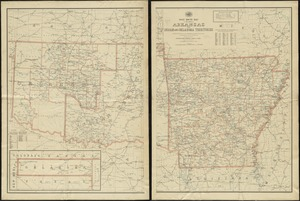 Post route map of the state of Arkansas and of Indian and Oklahoma territories showing post offices with the intermediate distances on mail routes in operation on the 1st of December, 1897
