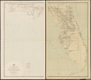 Post route map of the state of Florida showing post offices with the intermediate distances and mail routes in operation on the 1st of December, 1897