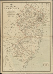 Post route map of the state of New Jersey showing post offices with the intermediate distances on mail routes in operation on the 1st. of December, 1897