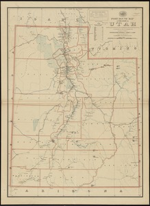 Post route map of the state of Utah showing post offices with the intermediate distances on mail routes in operation on the 1st. of December, 1897