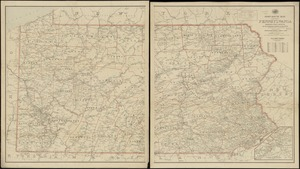 Post route map of the state of Pennsylvania showing post offices and the intermediate distances on mail routes in operation on the 1st. of September, 1897