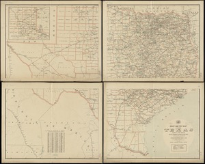 Post route map of the state of Texas showing post offices with the intermediate distances on mail routes in operation on the 1st. of December, 1897