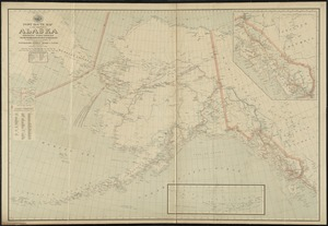 Post route map of the territory of Alaska showing post offices and the intermediate distances on mail routes in operation on the 1st of December, 1903