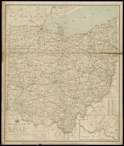 Post route map of the state of Ohio showing post offices with the intermediate distances on mail routes in operation on the 1st of December, 1903