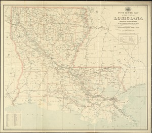 Post route map of the state of Louisiana showing post offices and the intermediate distances on mail routes in operation on the 1st of December, 1903