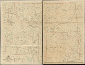 Post route map of the states of Montana, Idaho and Wyoming showing post offices with the intermediate distances and mail routes in operation on the 1st of December, 1903