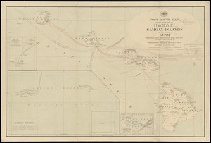 Post route map of the territory of Hawaii, Samoan Islands and the island of Guam showing post offices in operation on the 1st of December, 1903