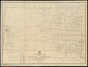 Post route map of the state of South Dakota showing post offices with the intermediate distances on mail routes in operation on the 1st of December, 1903