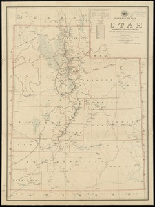 Post route map of the state of Utah showing post offices with the intermediate distances on mail routes in operation on the 1st of December, 1903