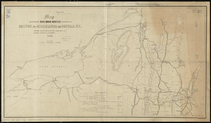 Map exhibiting the rail road routes leading from Boston, to Ogdensburg and Buffalo, N.Y