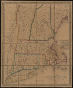 Rail road map of New England & eastern New York
