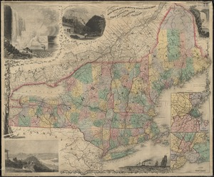 E.P. Dutton & Co.'s railroad, steam boat & stage route map of New England, New-York and Canada