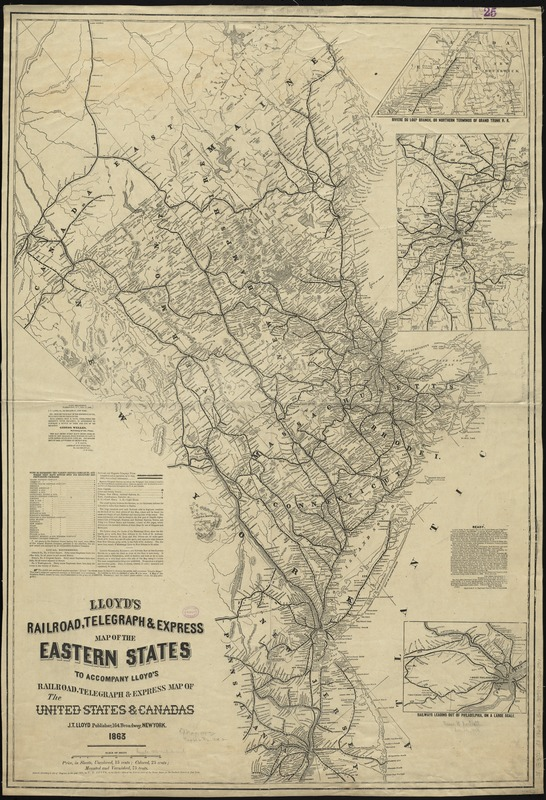 Lloyd\'s railroad, telegraph & express map of the Eastern ...