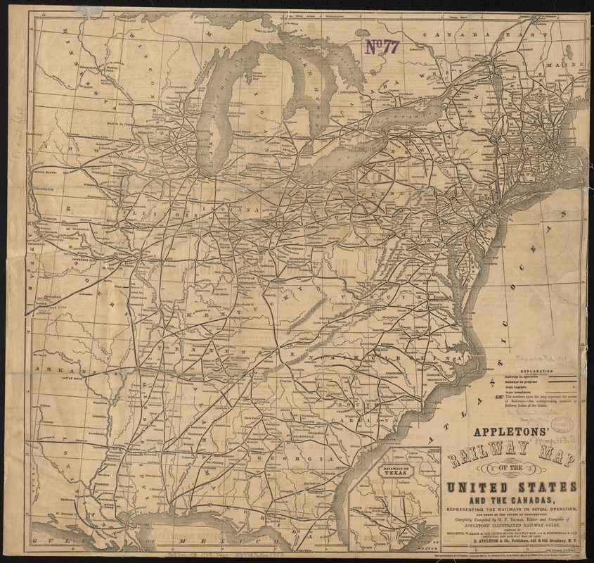 Appletons' railway map of the United States and the Canadas