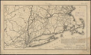 Map showing the comparative merits, and benefits to Massachusetts, of the proposed extension of the New York and Massachusetts Railway for 60 miles through southwestern Massachusetts, chartered last year, with that of the proposed branch of the Hartford and Connecticut Western, from Tariffville to Springfield, against the remonstrance of all western Massachusetts, and especially of southwestern Massachusetts, which has been struggling for years for railroad facilities