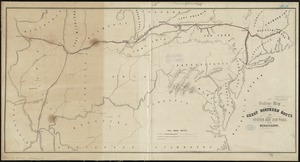 Outline map of the great northern route from Boston and New York to the Mississippi