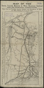Map of the Boston, Concord, Montreal & White Mountains Railroad and its principal connections