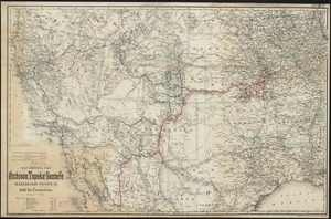Map showing the Atchison, Topeka and Santa Fe railroad system