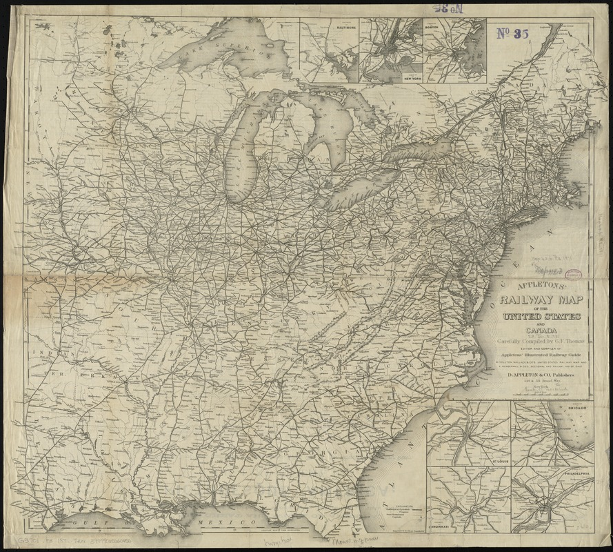 Appletons\' railway map of the United States and Canada - Digital ...
