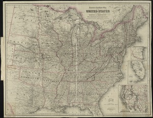 "Traveler's rail road map of the United States to accompany ""Boston to Washington"" Riverside Series Centennial Guides"