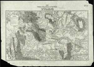 Map of the military Department of the Platte Wyoming