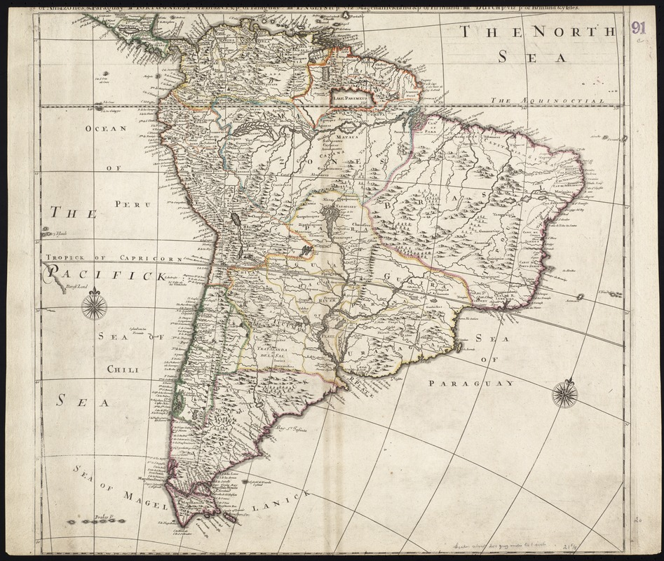 South America divided into its IIII principall parts