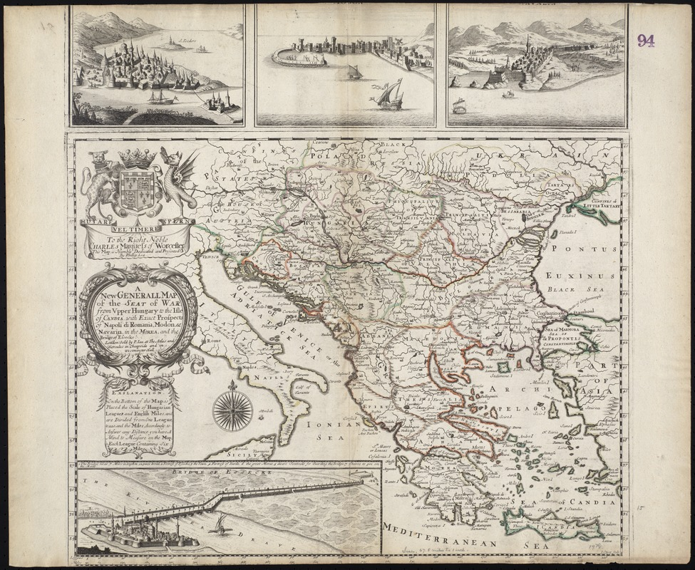 A new generall map of the seat of war from Vpper Hungary to the Isle of Candia