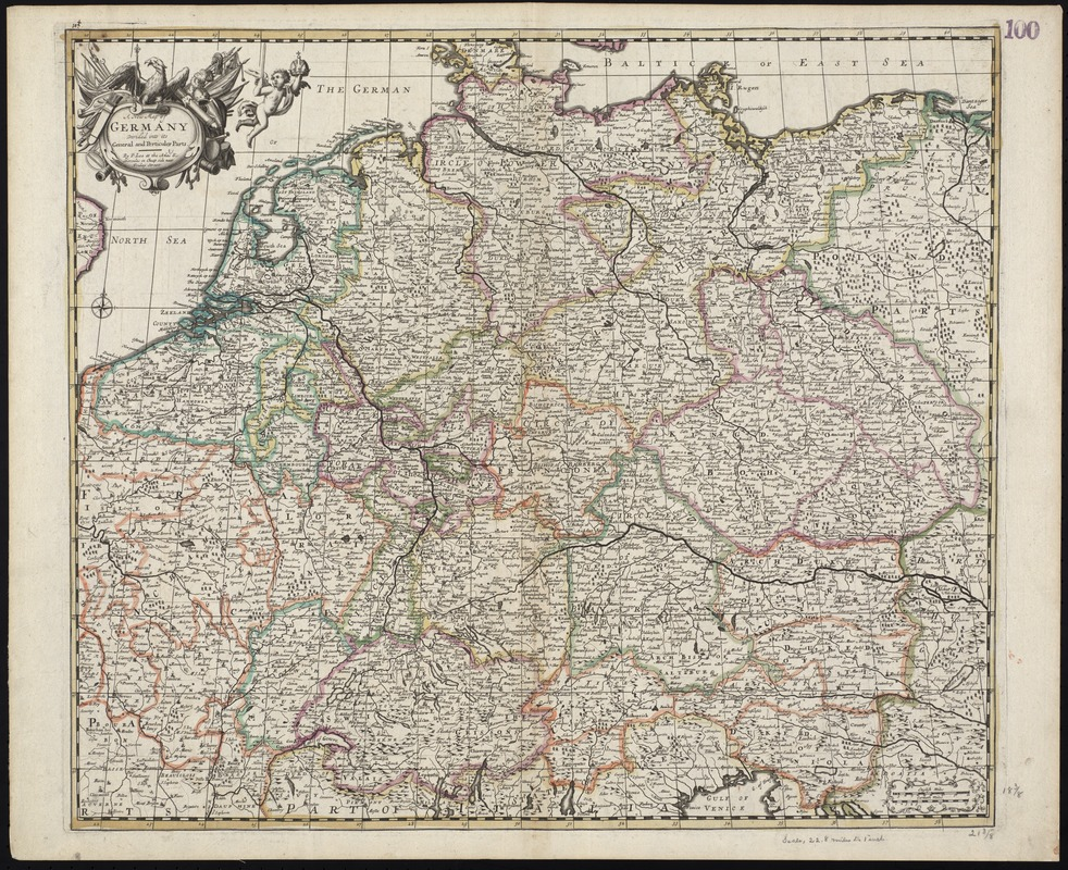 A new map of Germany divided into its general and perticuler parts