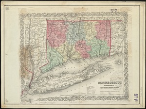 Connecticut with portions of New York & Rhode Island