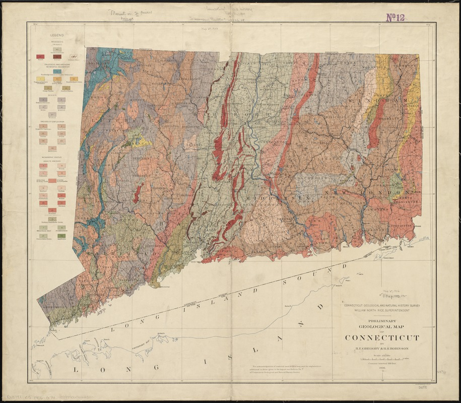 Preliminary geological map of Connecticut