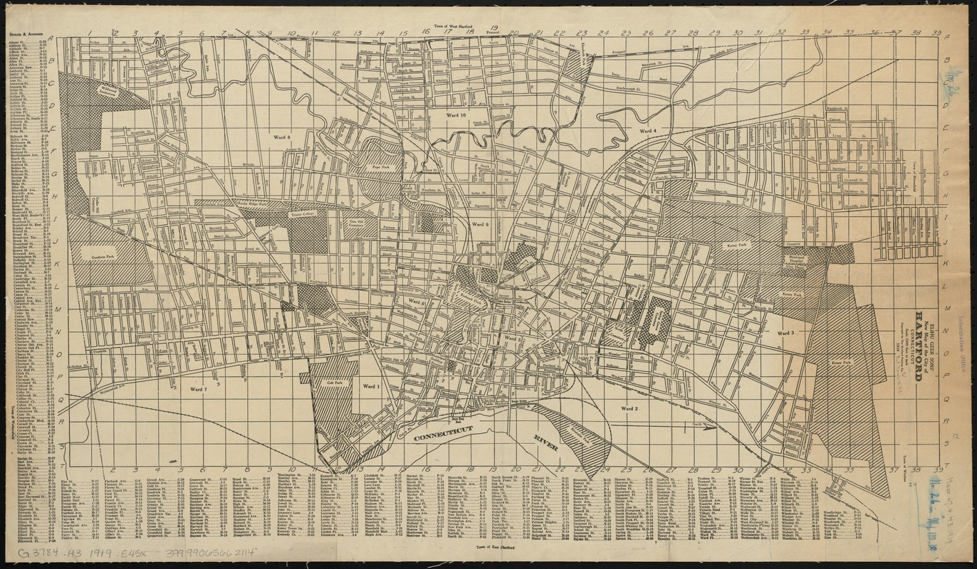 Elihu Geer sons' new map of the city of Hartford, Connecticut