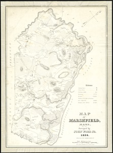 Map of Marshfield, Mass