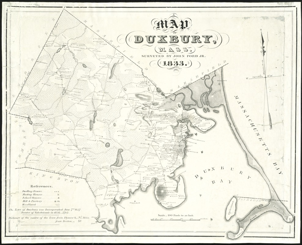 Map of Duxbury, Mass
