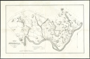 Map of Haverhill, Massachusetts