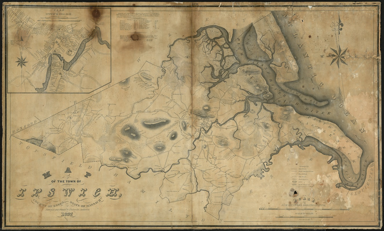 Map of the town of Ipswich, county of Essex, state of Massachts