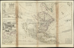 To the Right Honourable John Lord Sommers, Baron of Evesham in ye county of Worcester, president of Her Majesty's most honourable Privy Council &c., this map of North America according to ye newest and most exact observations is most humbly dedicated by your Lordship's most humble servant