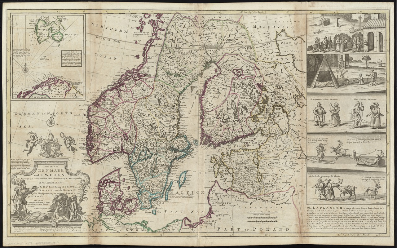 A New Map Of Denmark And Sweden Norman B Leventhal Map Center - Sweden new map