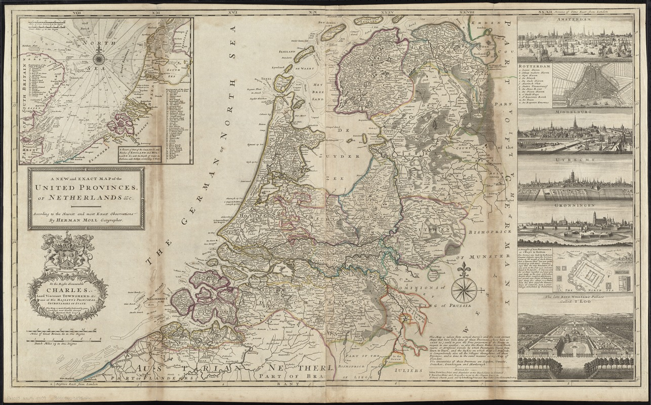A new and exact map of the United Provinces, or Netherlands &c