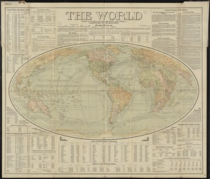 The world upon globular projection and with a gazetteer of information