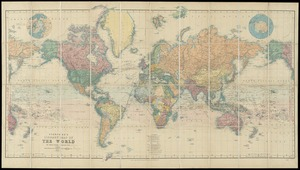 Stanford's library map of the world on Mercator's projection