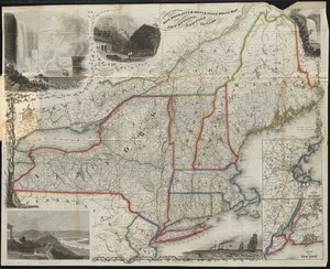 Sherman & Smith's rail road, steam boat & stage route map of New England, New-York, and Canada