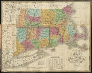 Map of Massachusetts, Connecticut and Rhode Island constructed from the latest authorities