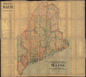 The National Publishing Company's 1900 census map of Maine