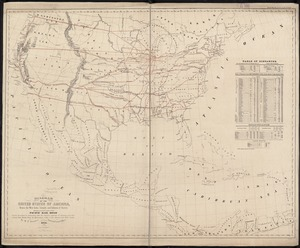 Diagram of the United States of America, Mexico, the West India Islands and Isthmus of Darien