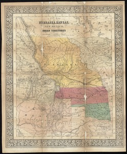 A new map of Nebraska, Kansas, New Mexico, and Indian Territories
